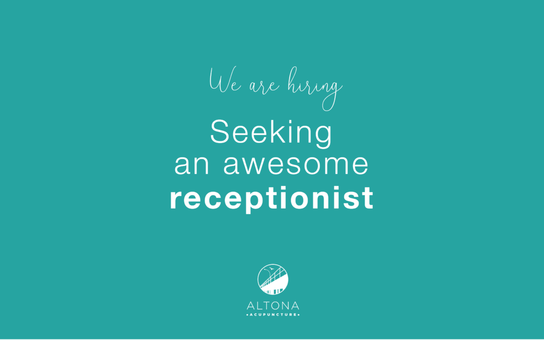 We are hiring! Seeking an awesome receptionist