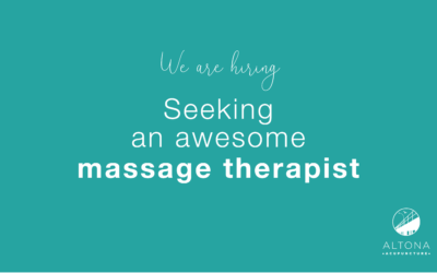 We're seeking a massage therapist